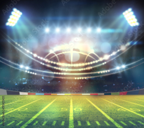 Spoed Foto op Canvas Stadion american football stadium 3D.