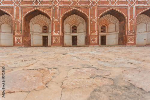 Architecture and arches at Humayun Tomb Delhi India