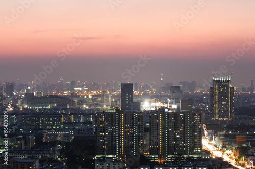 In de dag Aziatische Plekken Bangkok night, Bangkok Thailand