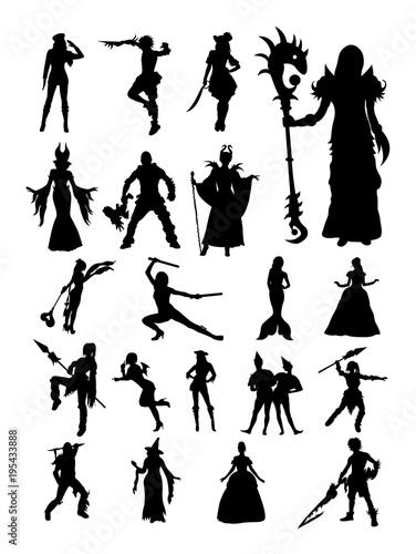 Fotografie, Obraz  Cosplay silhouette