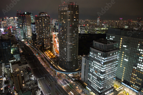 Poster Chicago Night view of Tokyo