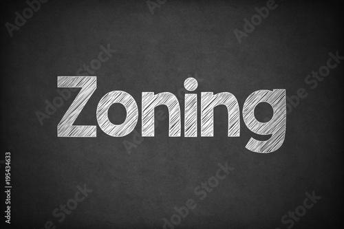 Photo  Zoning on Textured Blackboard.