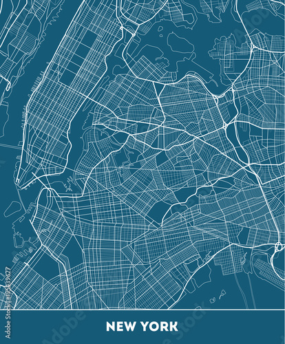 Plakat city map of New York with well organized separated layers.