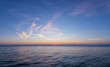 Gorgeous sea and sky colors in the dusk, Sithonia, Chalkidiki, Greece