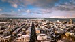Time lapse footage of famous Reykjavik from Cathedral tower, Iceland.