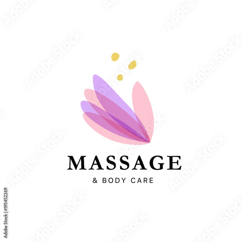 Vector transparent massage logo with lotus flower symbol in light vector transparent massage logo with lotus flower symbol in light colors isolated on white background mightylinksfo