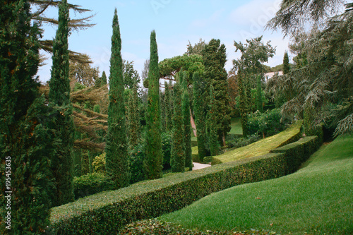 Santa Clotilde Garden. А view of the park in the summer