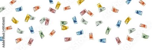 Fotomural Geldscheine Regen Banner