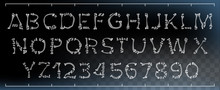 Bone Font Vector. Made Out Of ...