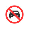No auto. No parking, traffic sign Vector illustration.