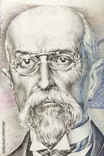 Fotografía Tomas Garrigue Masaryk on czech banknote