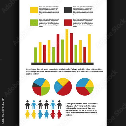 Infographics Set Information Demographic Bar Pie Chart Graphics