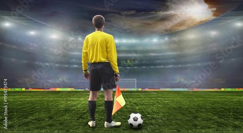Piłka na boisku stadionu