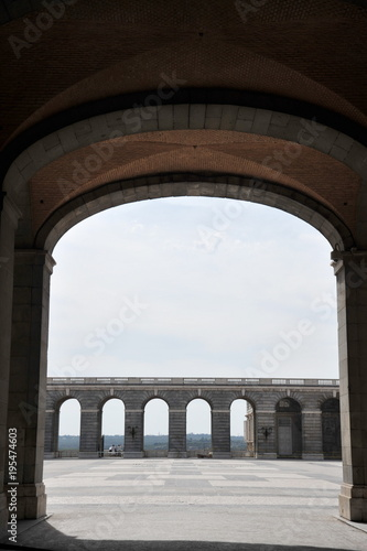 Fotografie, Obraz  Colonnade of the Royal Palace in Madrid.