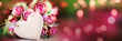 canvas print picture - Roses bokeh backgroud for mothers day