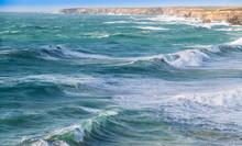 Hohe Wellen Am Atlantik - Portugal