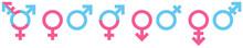 Gender Icons Blue/Pink