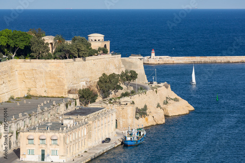 Staande foto Mediterraans Europa The Grand Harbour in Valletta, European Capital of Culture 2018, Valletta, Malta, Mediterranean, Europe