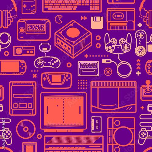 wektor-wzor-z-oldschool-obiektow-do-gier-kolorowe-linie-schematyczne