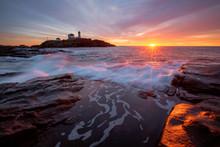 Sunrise At Nubble Lighthouse I...
