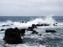 Seascape With Stormy Dramatic ...