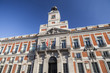 Architecture, House of the Post Office, Real Casa de Correos, office of the President of the Community of Madrid, square, Puerta del Sol, Madrid.Spain.