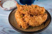 Crispy Chicken Tenderloid Deep Fried.