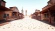 canvas print picture - Cowboy Town