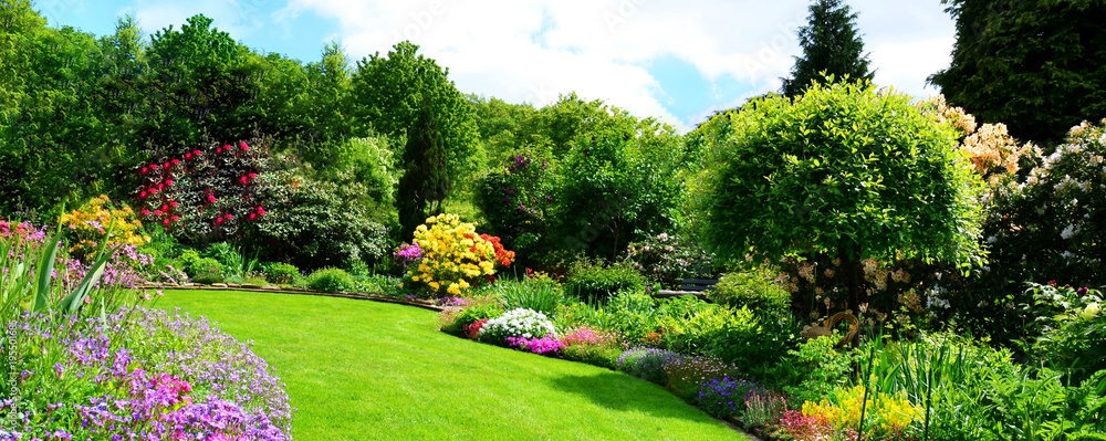 Fototapety, obrazy: beautiful garden panorama