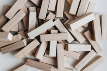 Pile Of Small Wooden Blocks Fo...