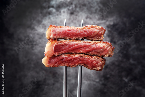 Fototapeta Barbecue Rib Eye Steak, dry Aged Wagyu Entrecote Steak