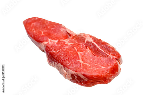 Papiers peints Steakhouse Ramp (rump) beef marbled steak on white background, isolated