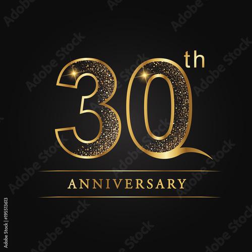 Fotografía anniversary,aniversary, thirty years anniversary celebration logotype
