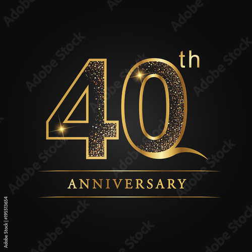 Papel de parede  anniversary,aniversary, forty years anniversary celebration logotype