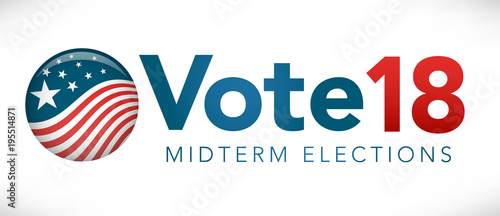 Fototapeta  Election header banner with Vote