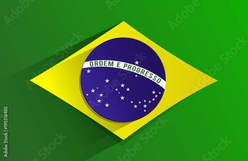 Foto  Creative Abstract Flag of Brazil Background