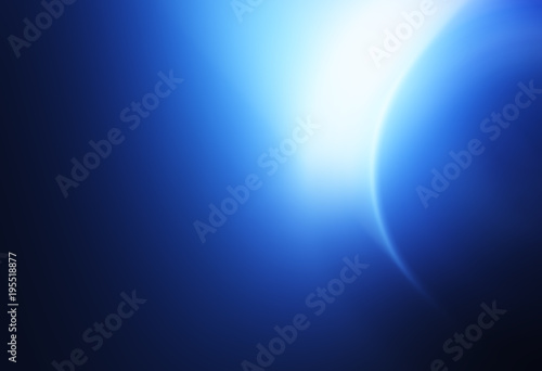 Moon sphere with light leak illustration background
