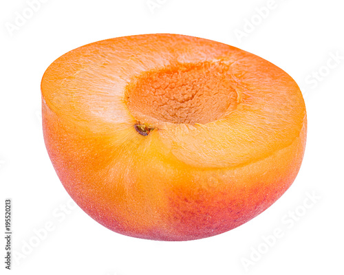 Legume apricot isolated on white background