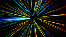 Abstract Scene Of Flight In Space