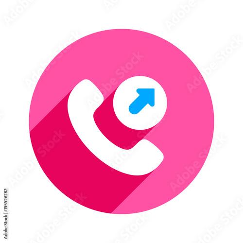 Fotografia, Obraz  Arrow call outgoing phone phone call telephone icon