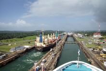 Cruise Ship Moves Through Pana...
