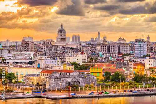 Havana, Cuba downtown skyline. Canvas Print