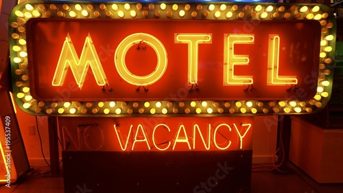 neon light up motel vacancy sign old signs for advertising