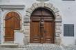 Old wooden door in Ceske Krumlov