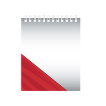 Notepad With Red Stripes Desig...