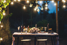Decorated Outdoor Wedding Tabl...