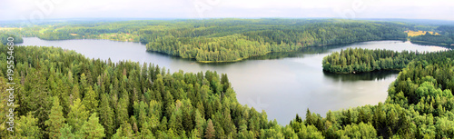 Panoramic aerial view of a ...