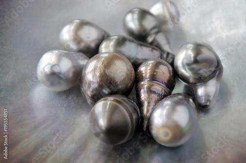 Keshi Tahitian Black Pearls