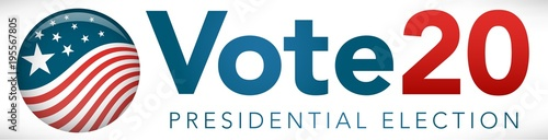 Valokuva Election header banner with Vote