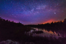 Lake Reflecting With Stars At ...